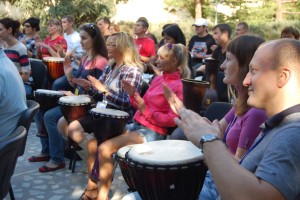 тимбилдинг, барабанный тренинг, командообразование, event
